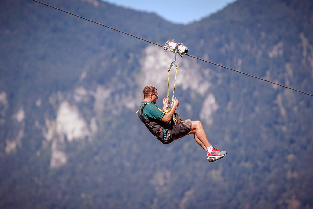 Flying-Fox-Anlage in Oberaudorf