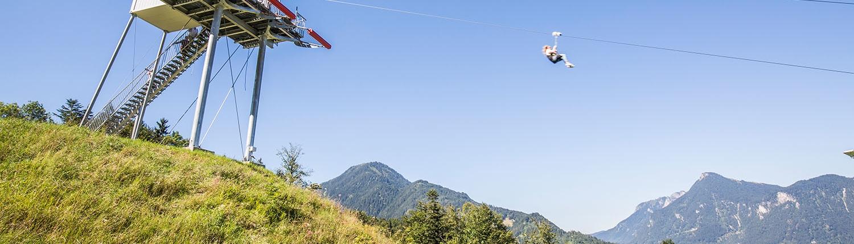 Flying-Fox-Anlage am Hocheck in Oberaudorf