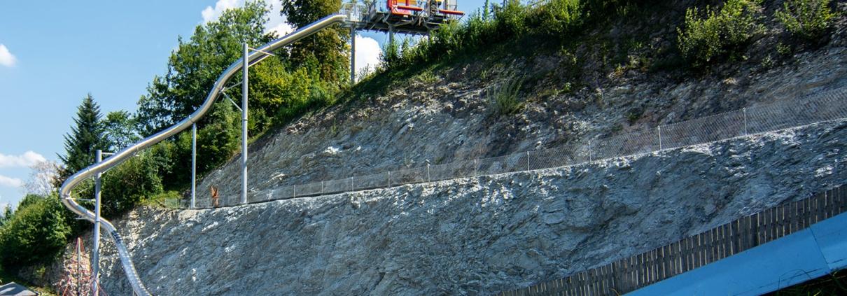 Freefall Trocken-Rutsche in Bayern