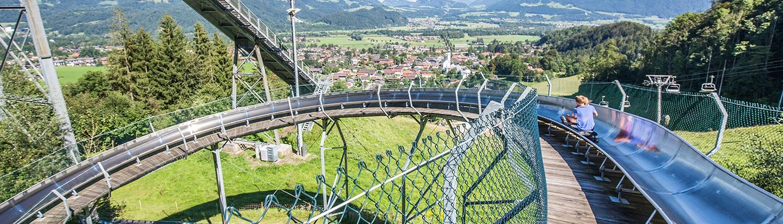 Blick vom Hocheck Erlebnisberg
